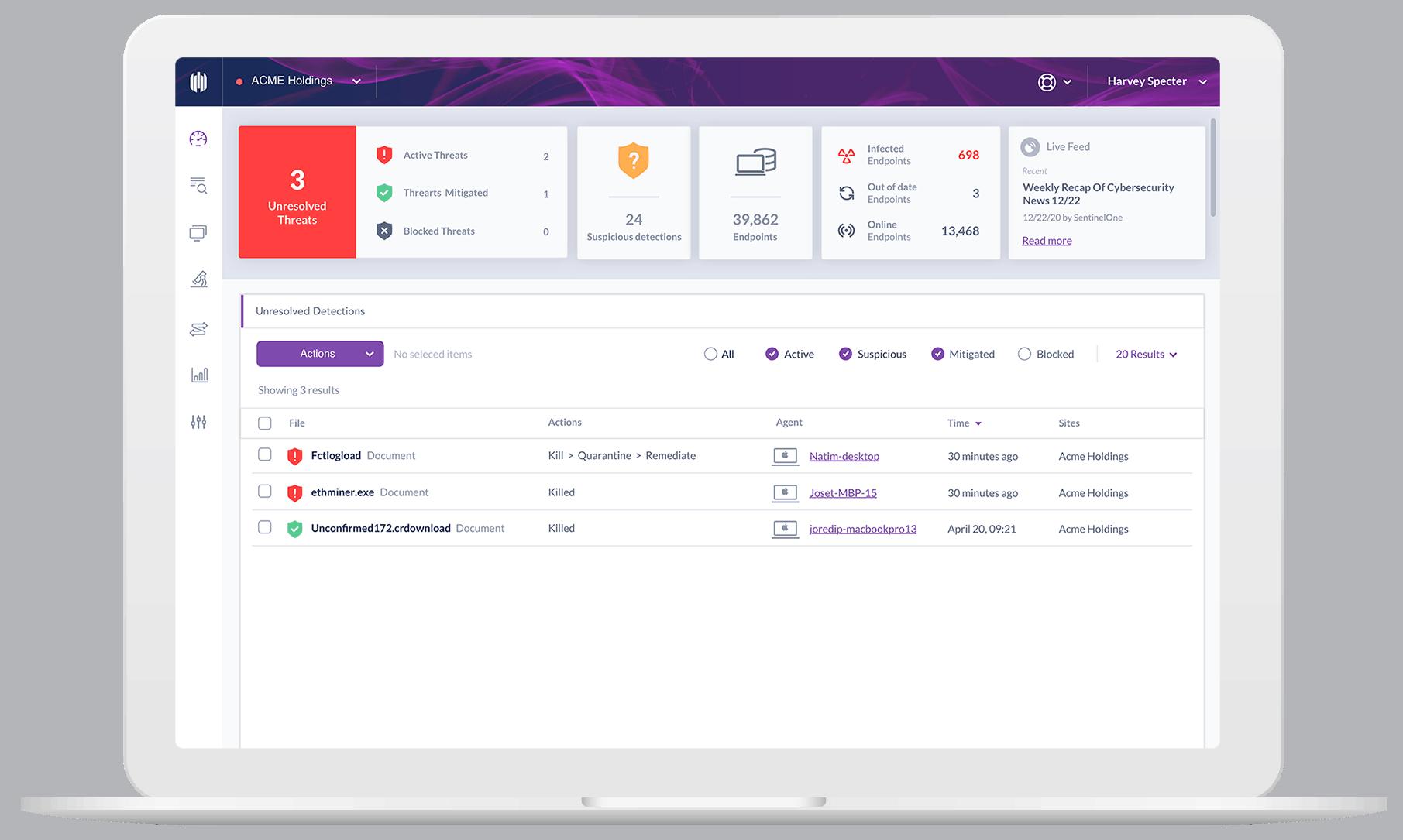 SentinelOne Core Smart Working