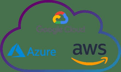 Amazon Web Services, Microsoft Azure e Google Cloud